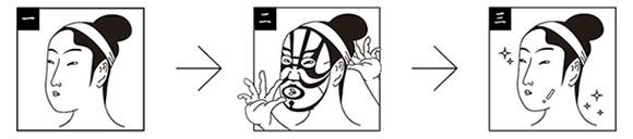 美しくなりながら歌舞伎役者になれるフェイスパック
